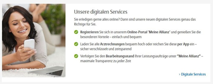 Allianz Unfallversicherung Digitaler Service