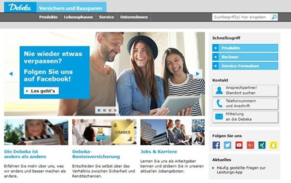 Debeka Unfallversicherung Startseite