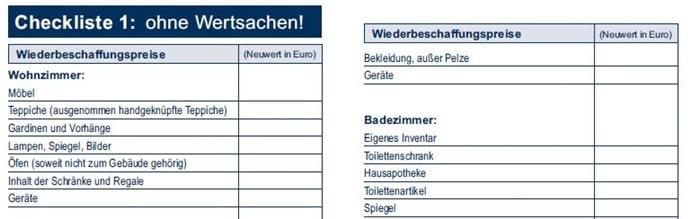 Europa hausratversicherung wertermittlungsbogen