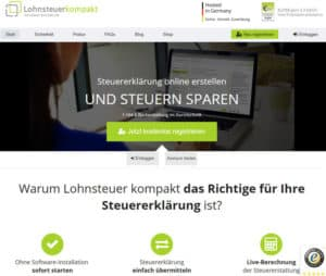 Lohnsteuer-kompakt Online-Steuererklärung im Test 2021