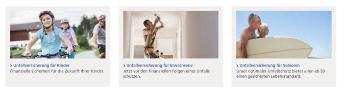 Zurich Unfallversicherung für Kinder, Erwachsene und Senioren