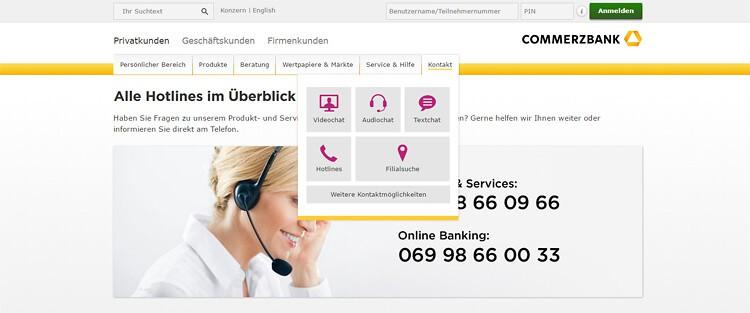commerzbank 24 stunden hotline