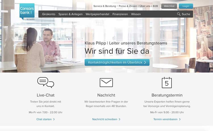 Consorsbank Kundenbetreuung