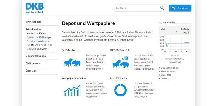 DKB Depot und Wertpapiere