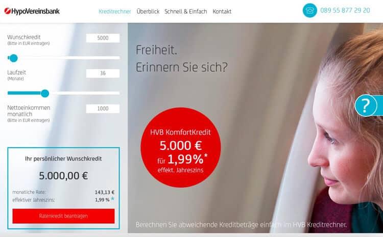 HypoVereinsbank Kreditrechner