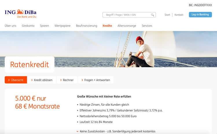 Ing Diba Online Kredit Erfahrungen