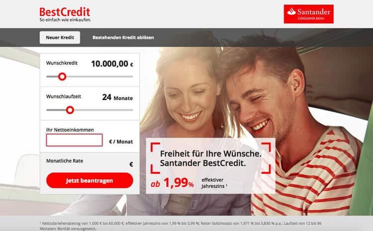 Santander Kreditrechner