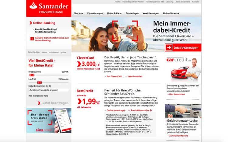 Santander Kredit Erfahrungen