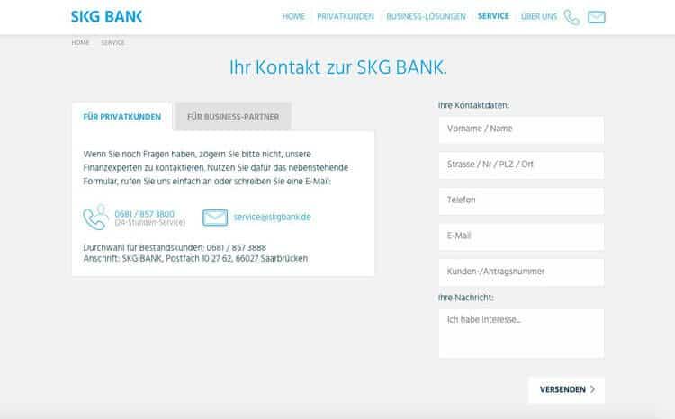 SKG Bank Kontakt