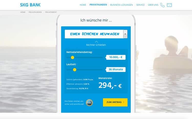 SKG Bank Kreditrechner