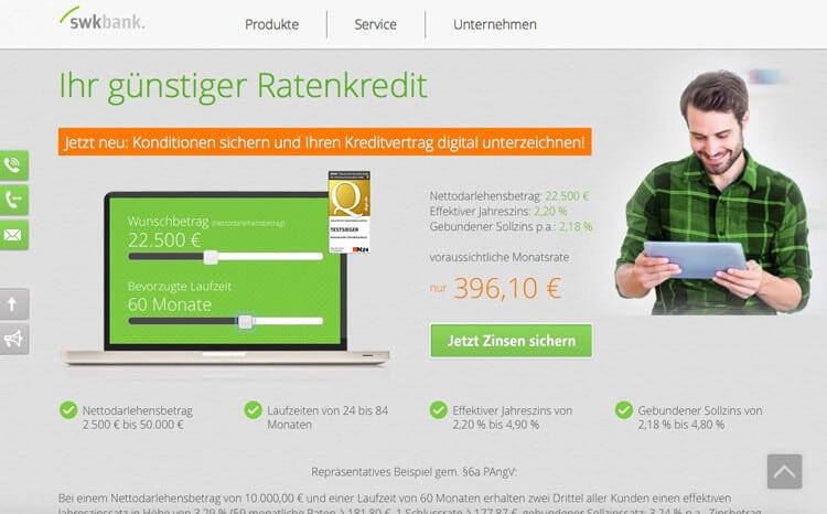 SWK Bank Kreditrechner