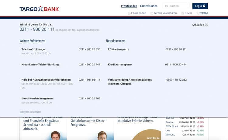 Targobank Kontakt