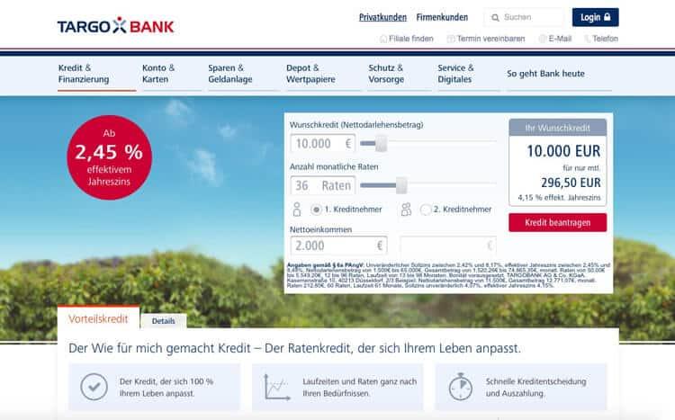 Targobank Kreditrechner