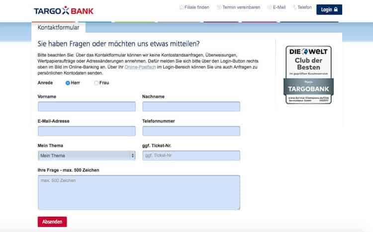 Targobank Kundensupport