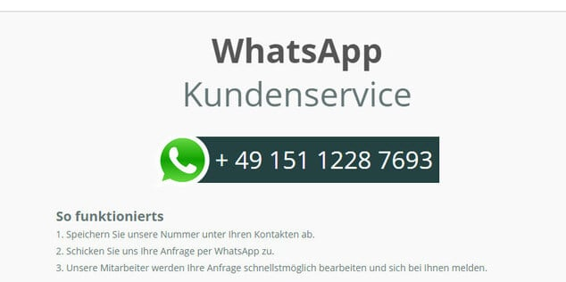Kundendienst-WhatsApp
