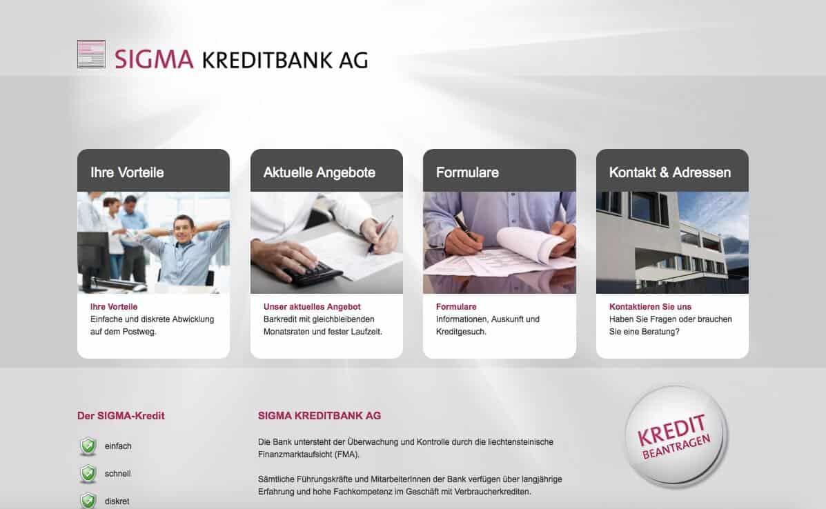Sigma Kreditbank Kredit Erfahrungen
