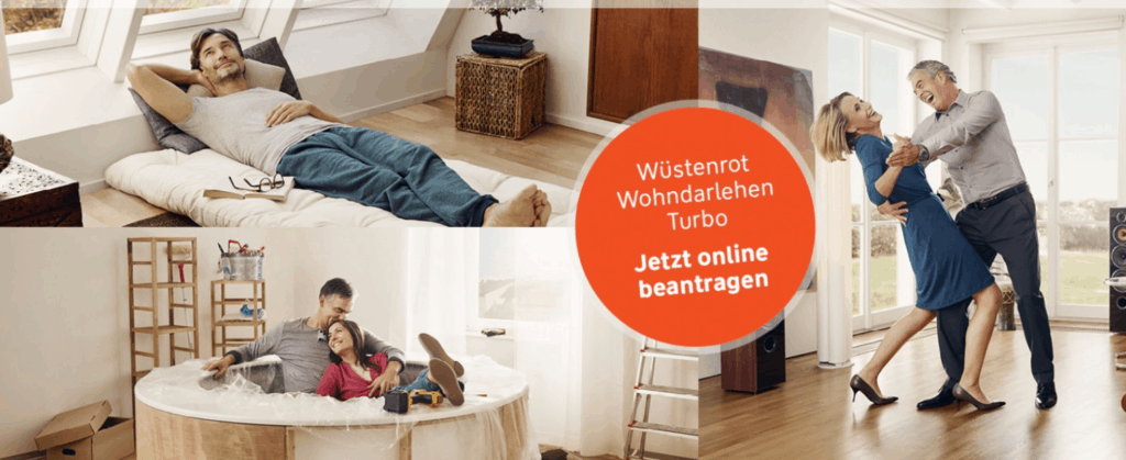 Das Wüstenrot Wohndarlehen Turbo gleich online beantragen.