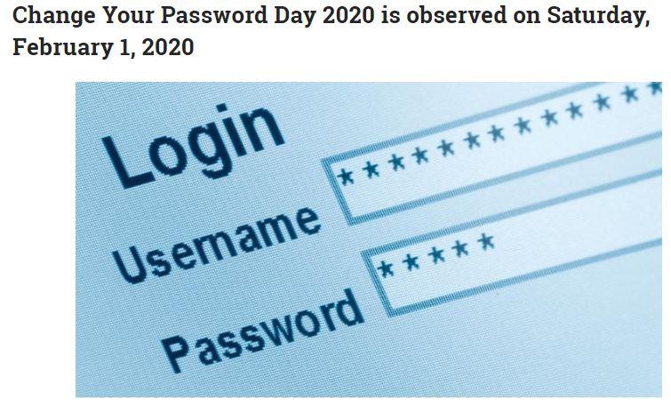 Bild von Worl National Day change your password Day