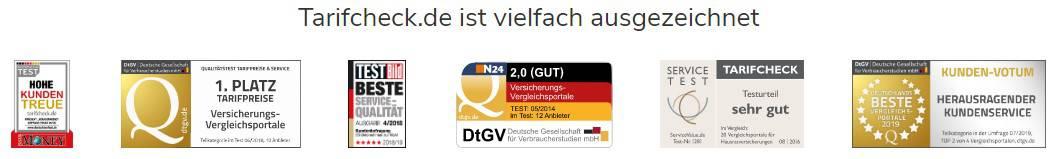 Tarifcheck.de Auszeichnungen (Quelle: Tarifcheck.de)