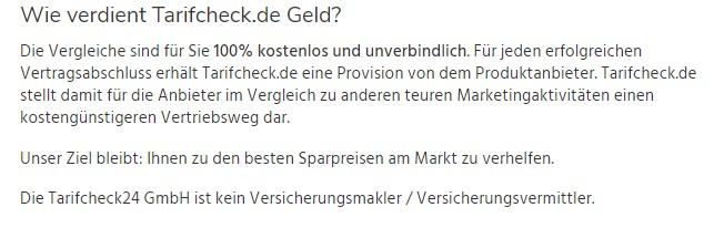 Wie verdient Tarifcheck.de Geld? (Quelle: Tarifcheck.de)