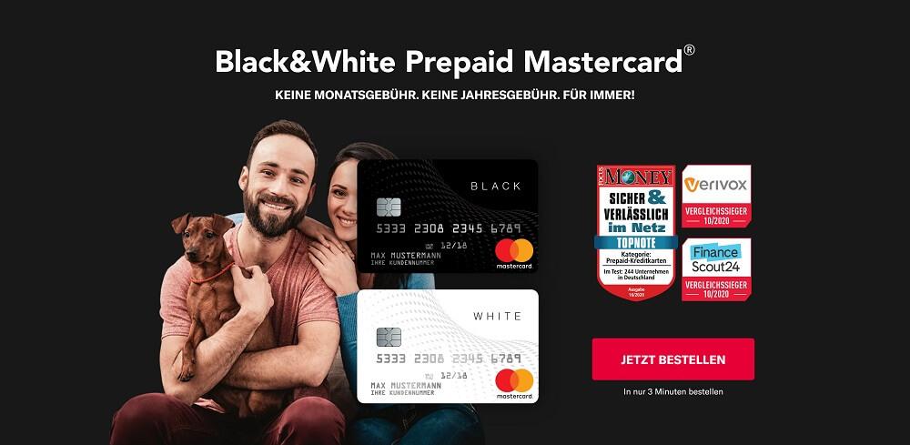 Black&White Kreditkarte ohne SCHUFA bestellen