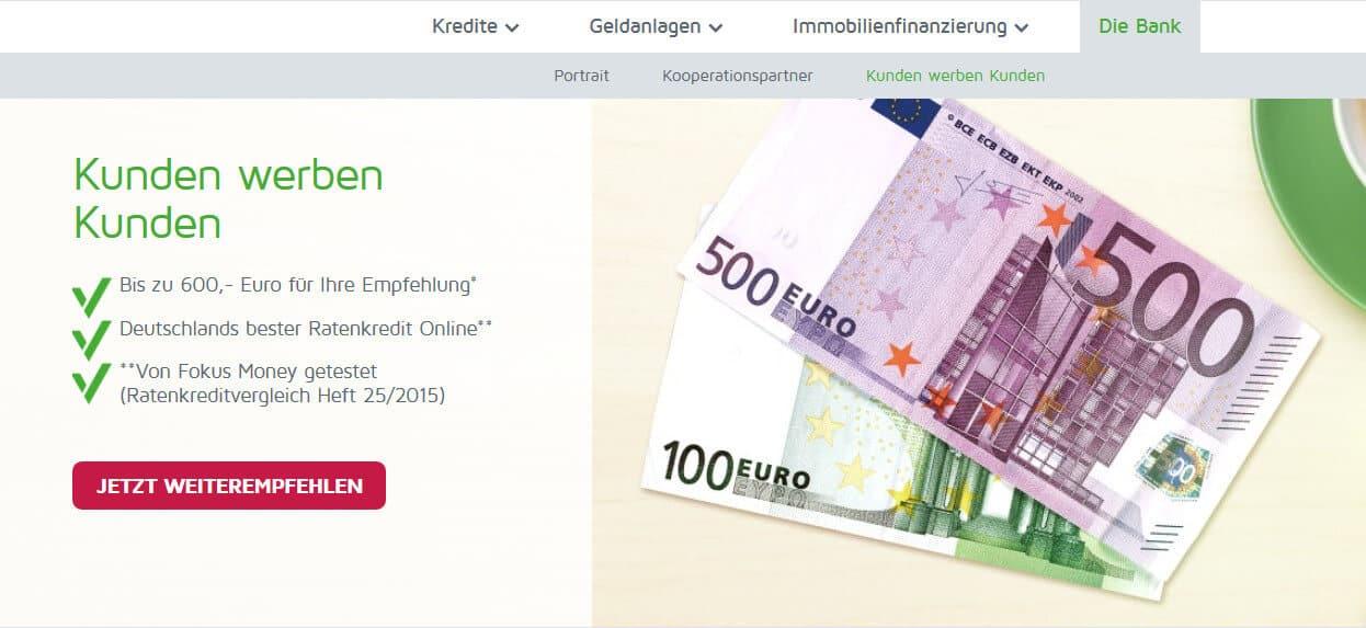 ABK Bank Kredit Bonus Kundenwerbung