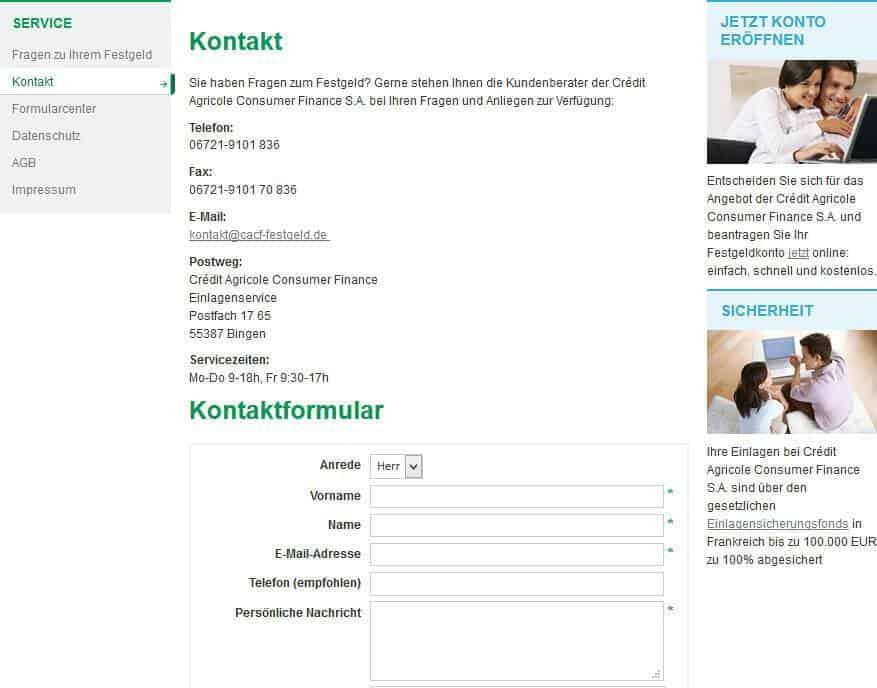 CA Consumer Kundendienst