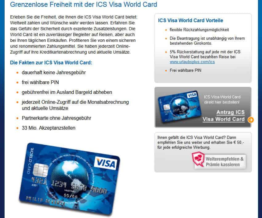 Visa Karte Sicherheitscode.Ics Cards Visa World Kreditkarte Erfahrungen Bewertungen
