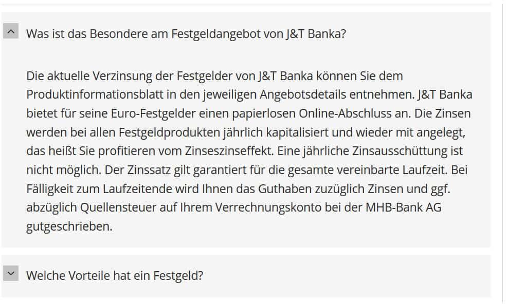 J&T Banka Zinseszinseffekt