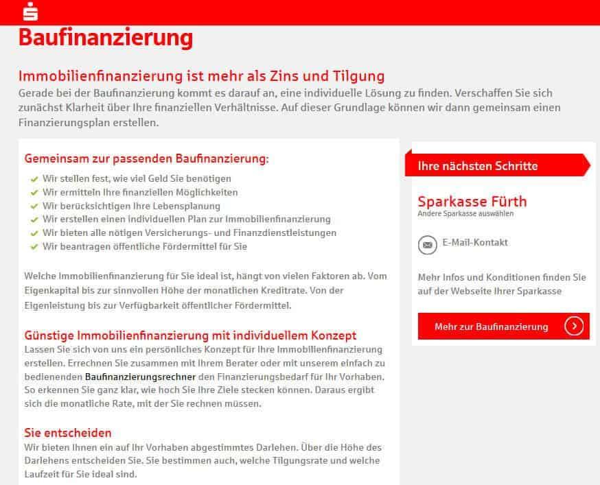 Sparkasse Baufinanzierung Übersicht