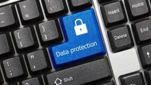 Tastatur mit Feld Datenschutz