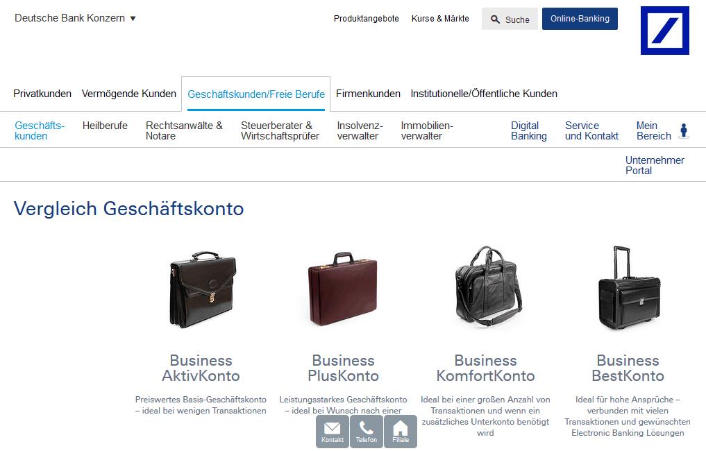 deutsche bank geschaeftskonto
